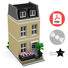 Lego Modular PDF Instructions - Yellow Georgian Townhouse -London Terraced House
