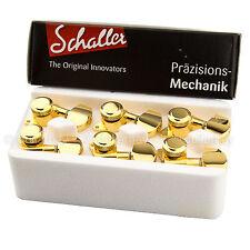 BRAND NEW - Schaller M6 Locking Tuning Keys L3+R3 Tuners Machine Head 3x3 - GOLD