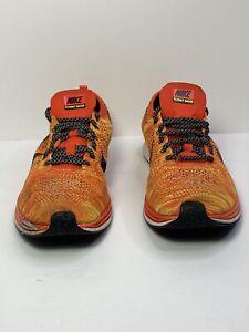 Men-039-s-Nike-Air-Flyknit-RACER-Bright-Crimson-Volt-Black-526628-602-Size-13