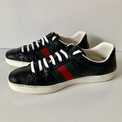 Men's Ace Gucci Signature Sneaker Black