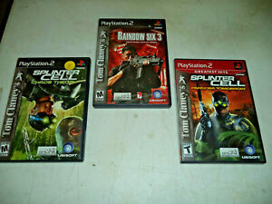 Lot of 3 - Tom Clancy PS2 Games - Splinter Cell x 2 Rainbow Six 3 Playstation 2