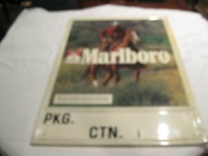 Tobacciana , Marlboro , Metal Sign , Vintage , Large