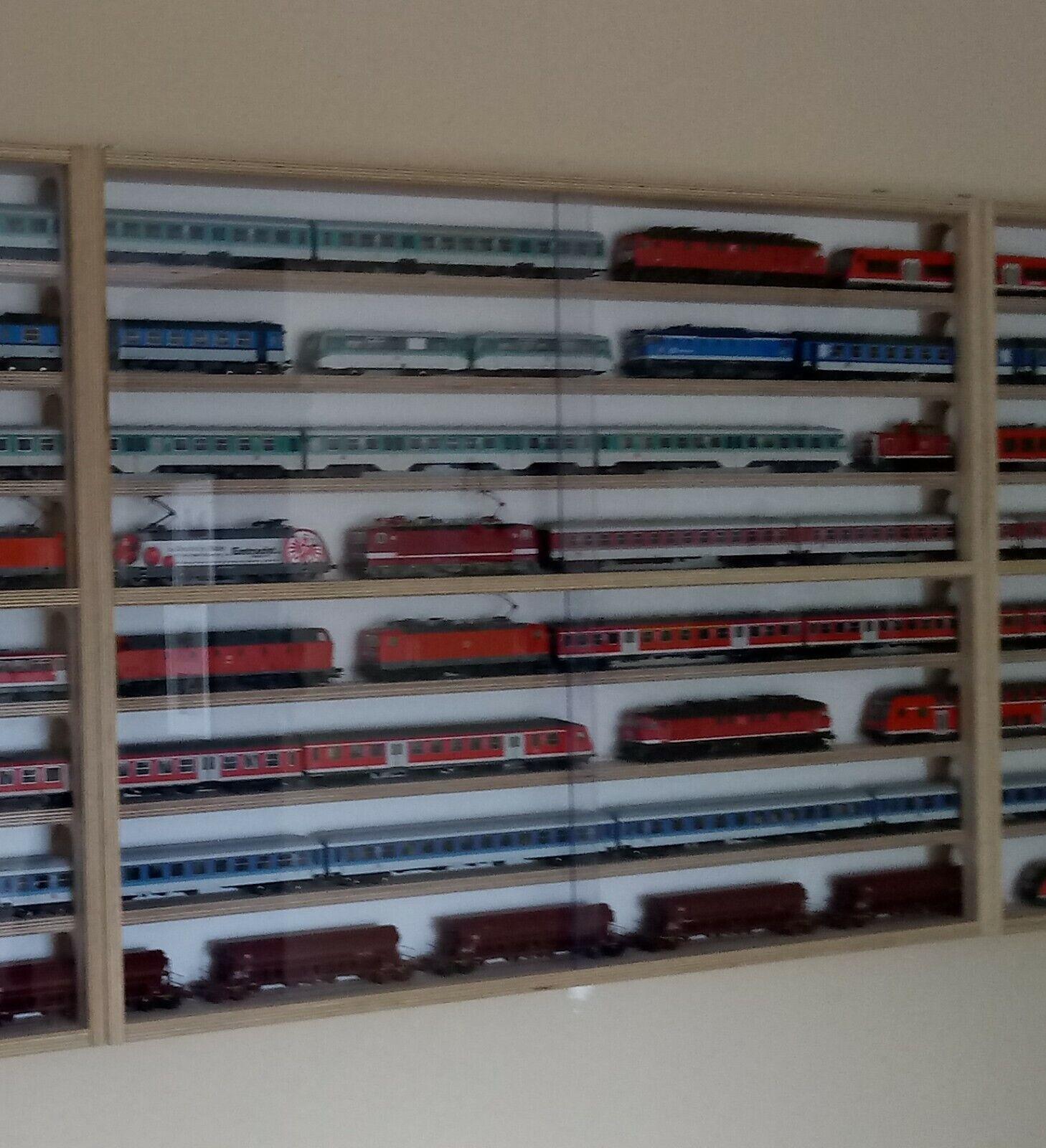 Vetrina Schmidt ® ho modellololo ferroviario vetrina Modulo centro 100cm 8 livelli di stazionamento