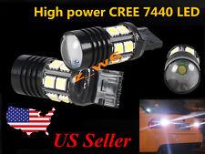2X 7440 T20 & 12SMD High Power CREE 7W Tail/Backup/Turn Signal LED Light Bulbs