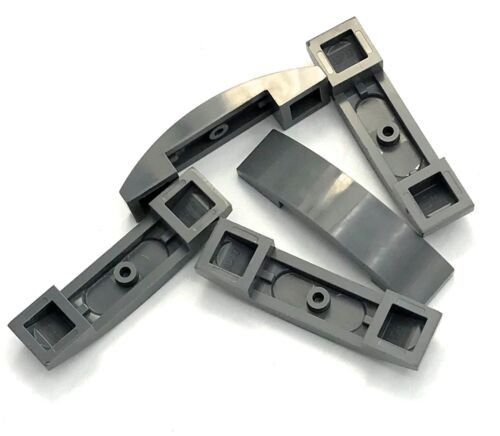 Lego 5 New Dark Bluish Gray Slopes Sloped Curved 4 x 1 Double No Studs Pieces