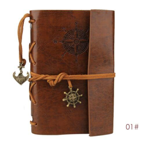 Klassischen Pirat Leder verklemmter Journal Tagebuch Notizbuch Reisetagebuch *i