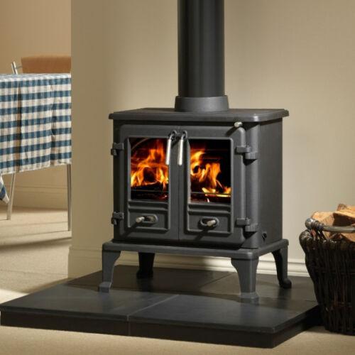 """stove flue pipe 6/"""" inch diameter 150mm  various lengths matt black"""