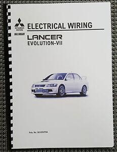 mitsubishi lancer evo vii electrical wiring manual reprinted comb rh ebay co uk Mistibishi EVO Mitsubishi Lancer Evolution X