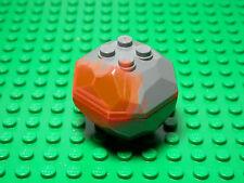LEGO  ONE NEW Rock Boulder 2 piece assembly (TOP & BOTTOM) DBG/Trans Neon Orange