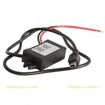 12V To 5V 3A 15W Car Charger Voltage Regulator w/ MINI 5 Pin USB Cable
