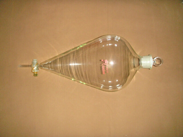 Pyriform Separatory funnel,5000mL (5L), dropping funnel with straight tip