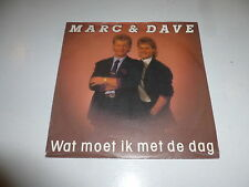 "MARK & DAVE - Wat Moet Ik Met De Dag - 1989 Dutch 7"" Juke Box Vinyl Single"