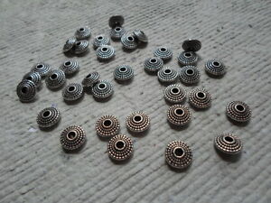 20-x-8mm-Tibetan-Style-Washers-Antique-Silver-Disc-shaped-spacers-2mm-hole