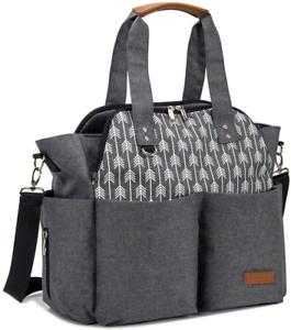 Arrow Print, Lekebaby Baby Nappy Changing Bag Satchel Messenger Large Capacity