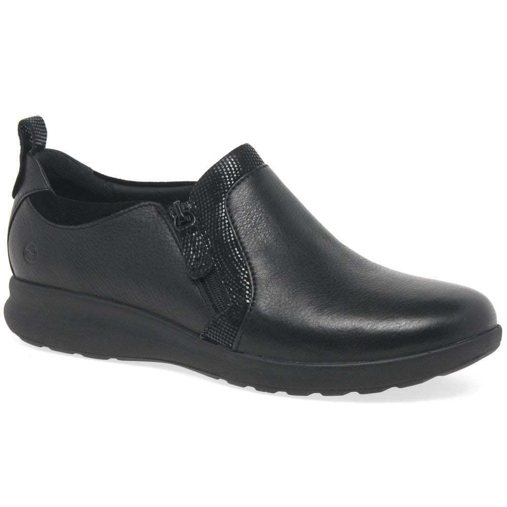 clarks onu femmes ornent zip zip cuir zip ornent wedge chaussures f7cd0f