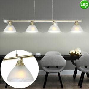 LED Pendel Lampe Alabaster Glas Wohn Zimmer Decken Hänge Leuchte verstellbar