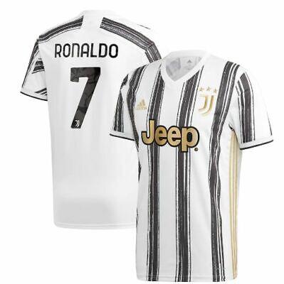 adidas Juventus 2020 - 2021 C. Ronaldo # 7 Home Soccer Jersey CR7 Kids - Youth | eBay