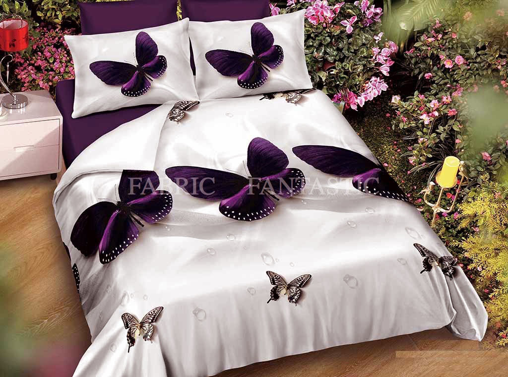 BUTTERFLY Duvet Doona Quilt Cover Set Queen King Super King Size Bed New M230