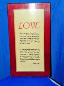 Rare!! Perma Plaque Love Poem By Emmet Fox Decorative Arts Antiques