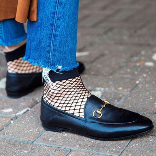 Fashion Women Ruffle Fishnet Ankle High Socks Mesh Lace Fish Net Short Socks-O