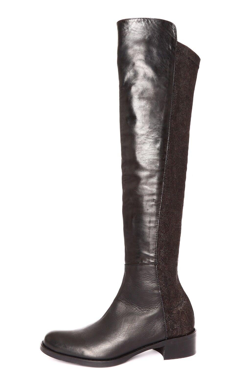 Sesto Meucci Women's Black Over The Knee Leather Boot Sz 8 3243 *