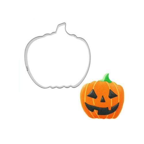 Halloween Cookie Cutter Set Pumpkin Bat Stainless Steel Non-Stick Biscuit Mold Q