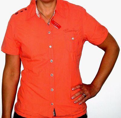 EXXTASY Ipatinga Damen Funktions Shirt UV Schutz Raff Bluse mandarin 38,42