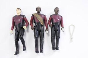 Galoob-1988-Star-Trek-The-Next-Generation-TNG-Figure-Lot-Riker-Worf-LaForge