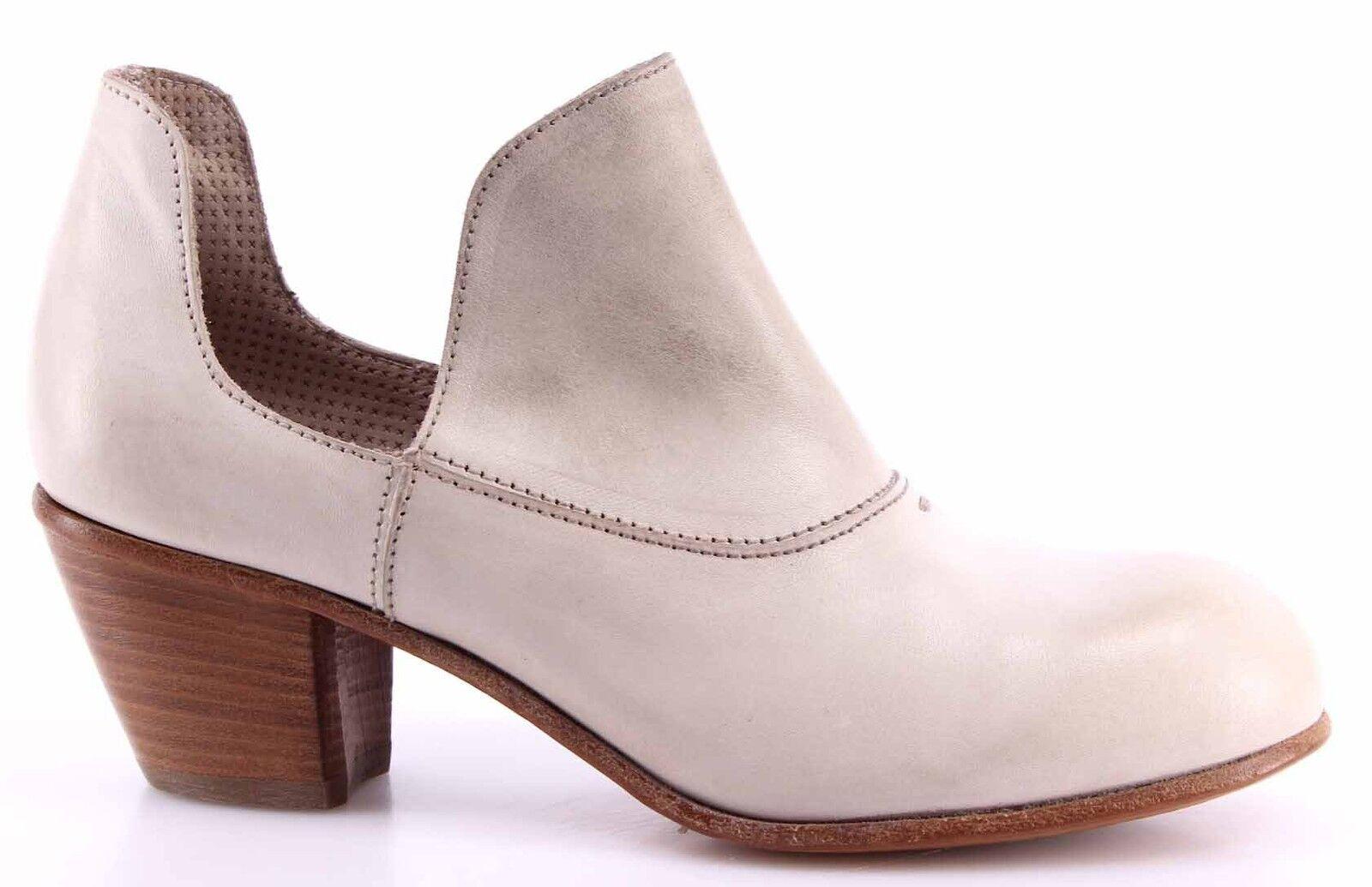Zapatos De Tacón Mujer MOMA 44503-1H Albino Cuero blancoo blancoo blancoo Vintage Made In   marca de lujo
