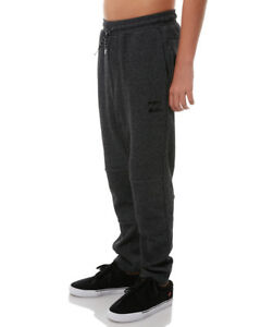 NEW-TAG-BILLABONG-BOYS-TEEN-SIZE-14-NEW-ORDER-ELASTIC-FLEECE-TRACK-PANTS-BLACK