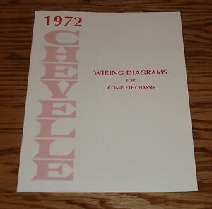 1972 Chevrolet Chevelle Wiring Diagram Manual for Complete ...