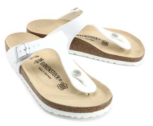 e96af9a4c70 Birkenstock Gizeh 043731 Size 43 L12m10 R White Birko-flor Thong Sandals