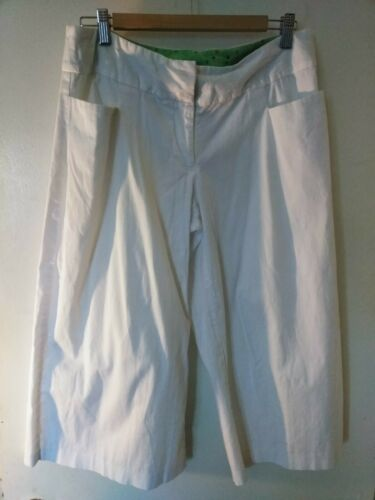 GEORGE White Gaucho Wide Leg Cropped Capri size 12