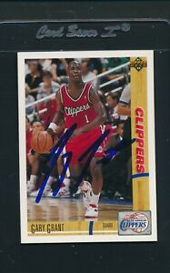 1991/92 Upper Deck #195 Gary Grant Clippers Signed Auto *A144