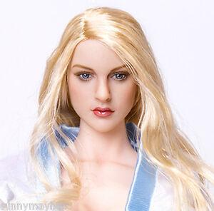 "1//6 Scale Female Head Sculpt European Blond Hair For 12/"" Figure Doll Art Model"