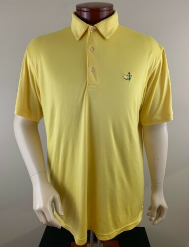 MASTERS PERFORMANCE Men's Yellow Masters Golf Polo