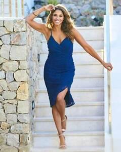 Details About Joanna Hope Navy Lace Cami Bodycon Dress Uk Size 18 Eu46 Us14 L41