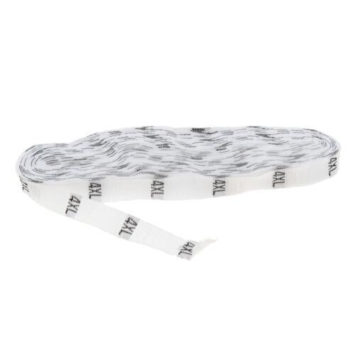 XS to XXXXL 500 PCS Classic White Woven Size Labels Dacron Clothing Tags