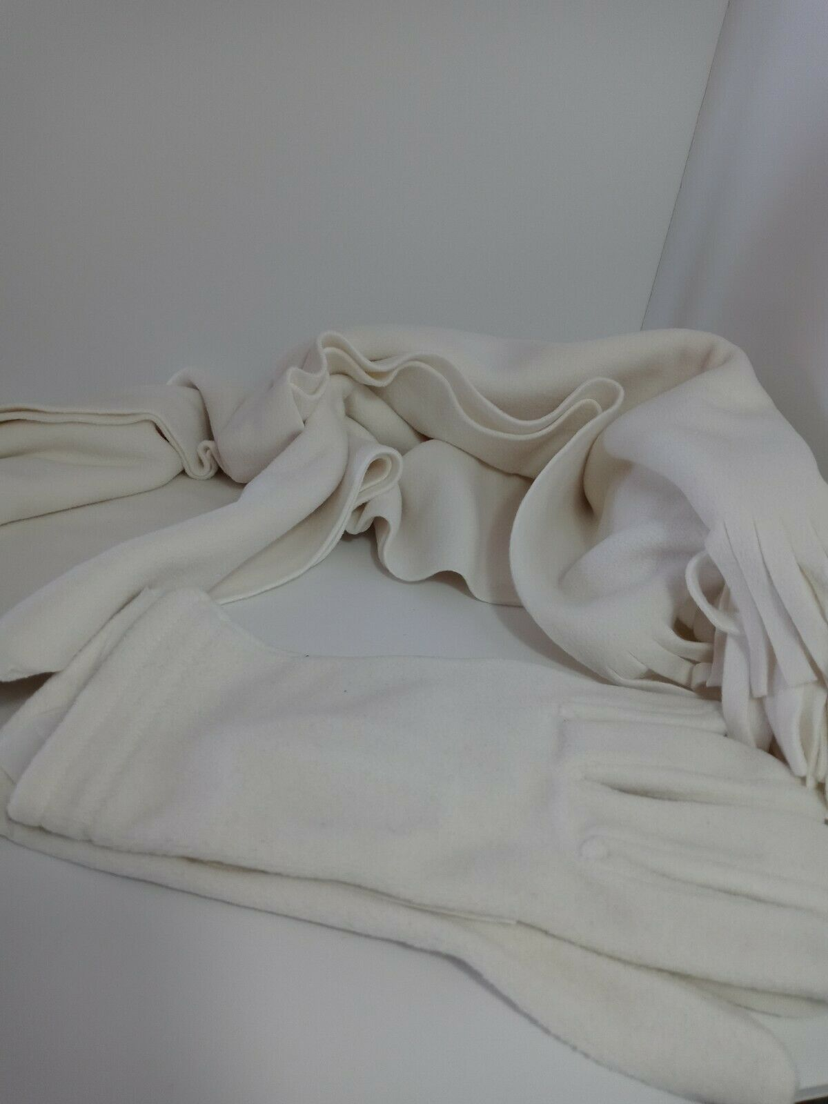 Blair Winter White Scarf & Glove Set