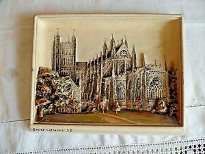 Vintage-Mid-Sized-Osborne-Ivorex-Wall-Plaque-Exeter-Cathedral-SE