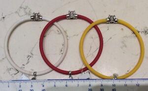 Drei Armbänder Caucciu' Bunt Mit Element Zentrale Silber 925/°°° Neu