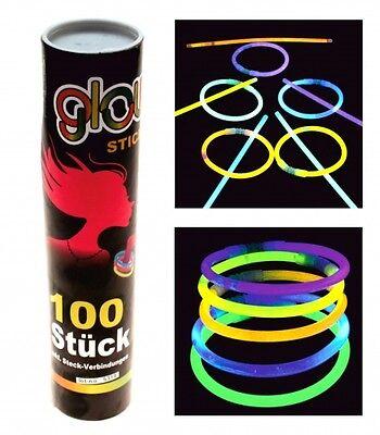 100 Stück Knicklichter - Leuchtarmband 20 Cm - 100er Röhre - Party Deko Dauerhafter Service