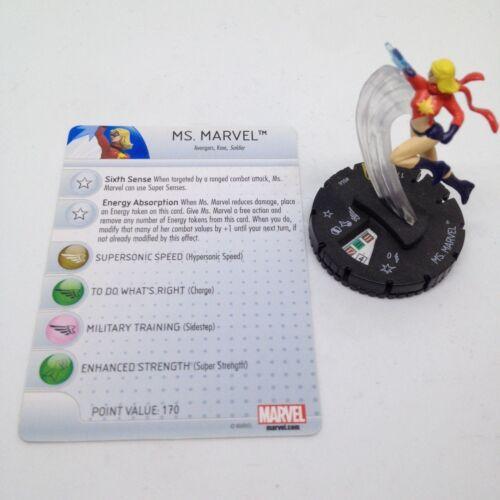Marvel #046 Super Rare figure w//card! Heroclix Age of Ultron set Ms