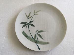Japan-China-Bamboo-Pattern-White-Green-Handpainted-7-5-8-034-SALAD-PLATE