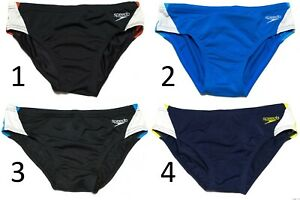 Speedo Boy/'s Aqua Shorts Swimming Trunks Endurance Fabric Swim Briefs Navy Blue