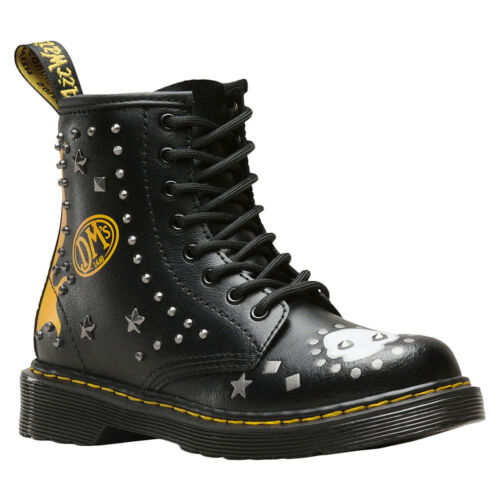 Dr.Martens 1460 Patch+Stud Y T Lamper Leather Zip-up Ankle Youth Stiefel