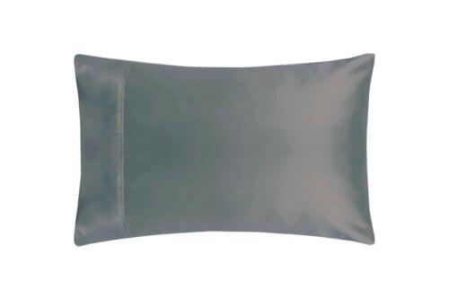 200 fils au pouce en coton égyptien Paire Ménagère taies d/'oreiller en gris ardoise