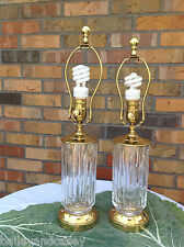 2 Vintage State Farm WATERFORD CRYSTAL Lamps *All Original* and FREE QUICK SHIP