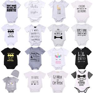Newborn-Infant-Baby-Boy-Girl-Cotton-Romper-Bodysuit-Jumpsuit-Clothes-Outfit-Lots