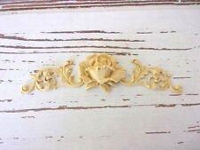 FURNITURE APPLIQUES * ARCHITECTURAL SIDES w/ ROSE * PAINTABLE * STAINABLE